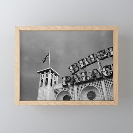 Signage from the Brighton Palace Pier Framed Mini Art Print