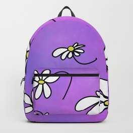 Cute Springtime Purple Daisies with purple background Backpack