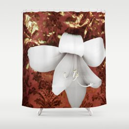 Innocent in copper red Shower Curtain