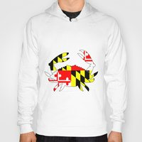 house md Hoodies featuring Md crab by junaputra