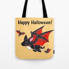 Corgipire Bat (With Text) Tote Bag