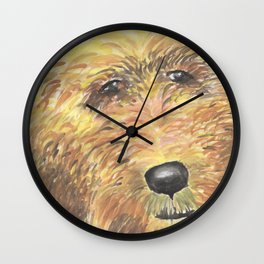 Goldendoodle Puppy Love Wall Clock