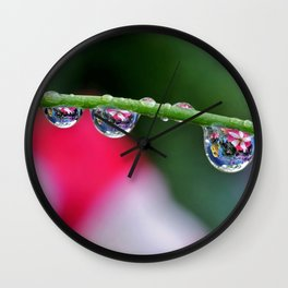 Pansy Puddles Wall Clock