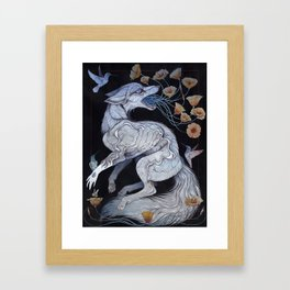 Fox & Poppies Framed Art Print