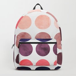 Colorful watercolor circles II Backpack