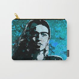FRIDA - turquoise grunge Carry-All Pouch