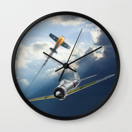 Reisen (Zero Fighter) flown by sub-Lt. Saburo Sakai Wall Clock