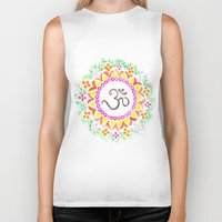 ohm Biker Tanks featuring Ohm / OM  by HollyJonesEcu