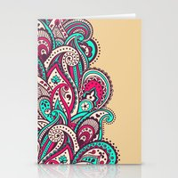 paisley Stationery Cards featuring Paisley by Cultivate Bohemia
