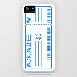Boarding Pass by Worldwide iPhone Case