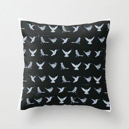 Black & White Silhouette Throw Pillow
