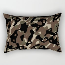 Camouflage Abstract Rectangular Pillow
