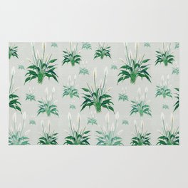 peace lily painting Rug