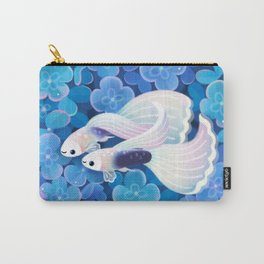 White tuxedo guppy Carry-All Pouch