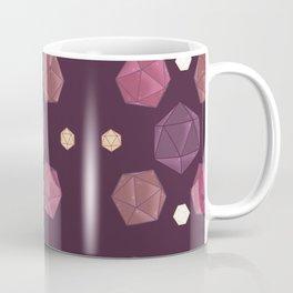 Red and Purple DnD Dice Coffee Mug