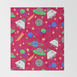 Space Ships Throw Blanket