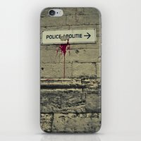police iPhone & iPod Skins featuring Police by Gautier Houba