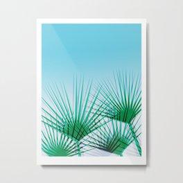 Airhead - memphis throwback retro vintage ombre blue palm springs socal california dreamer pop art Metal Print