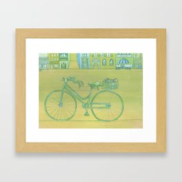 """Bicycle Picnic"" Framed Art Print"