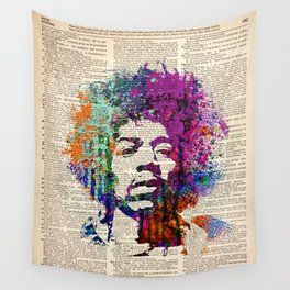 GUITAR GOD  on dictionary page Wall Tapestry