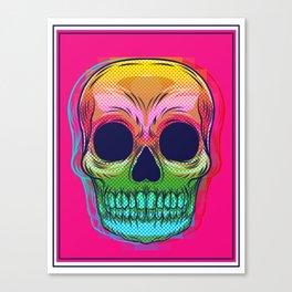 skull colors  Canvas Print