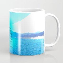 Serenity Prayer With Blue Ocean and Amazing Sky Coffee Mug