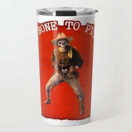Vintage Skeleton Cowboy Artwork Travel Mug