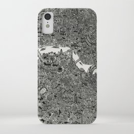 London map print iPhone Case