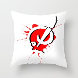 Badass Art Logo v2 Throw Pillow