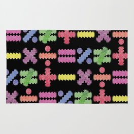 Seamless Colorful Abstract Mathematical Symbols Pattern Rug