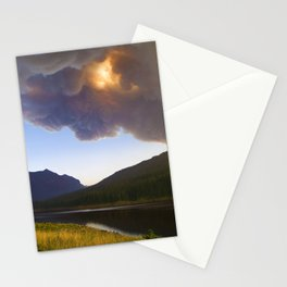 Smoke in the Air - Bozeman, Montana Stationery Cards
