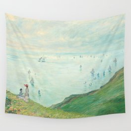 Claude Monet - Cliffs at Pourville Wall Tapestry