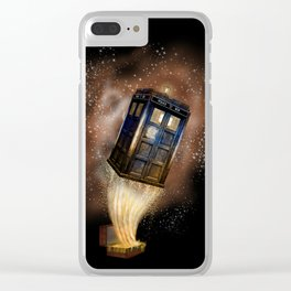 Fantastic tardis doctor who mashup with fantastic Bag  iPhone, ipod, ipad, pillow case and tshirt Clear iPhone Case