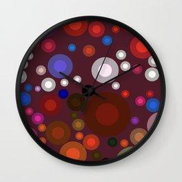 Retro Multi Color Bubbles Wall Clock