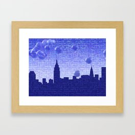 New York Bubbles Skyline Framed Art Print