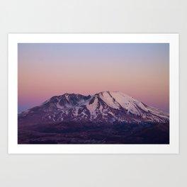 Mount Saint Helens at dusk Art Print