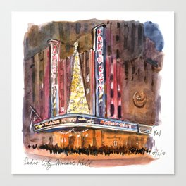 Radio City Music Hall at Christmas Canvas Print