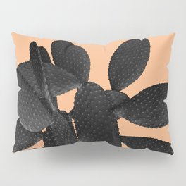 Black Pastel Orange Cacti Vibes #1 #plant #decor #art #society6 Pillow Sham