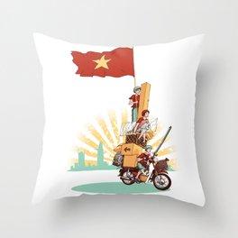 Vietnamese Transport Throw Pillow