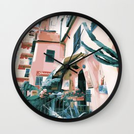 Italian summer Wall Clock