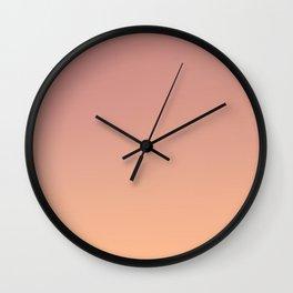 AFTER FALL - Minimal Plain Soft Mood Color Blend Prints Wall Clock