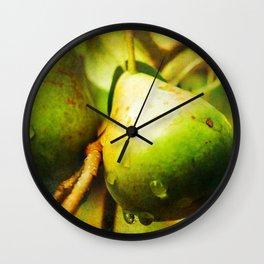 Wild Pears Wall Clock