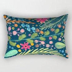 les prairies (navy) Rectangular Pillow