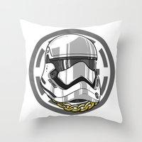 storm trooper Throw Pillows featuring Storm Trooper by KODYMASON