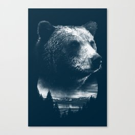 Bear & Outdoors Canvas Print