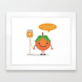 Mr orange Framed Art Print
