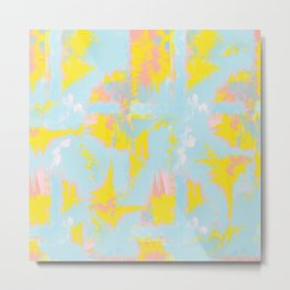 happy abstract paint - colourful eighties Metal Print