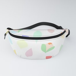 Colorful pastel leaves Fanny Pack