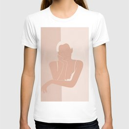 Minimal illustration of a Woman T-shirt