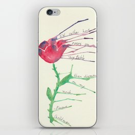 Rose with Emma Goldman quote iPhone Skin